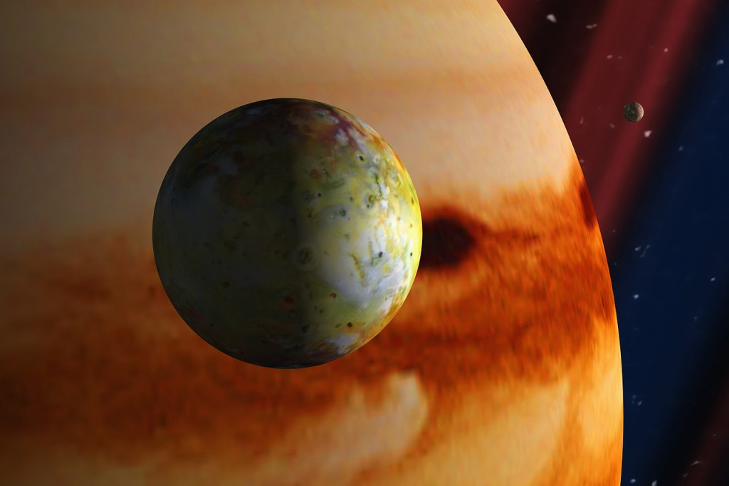 Io, one of the moons of Jupiter