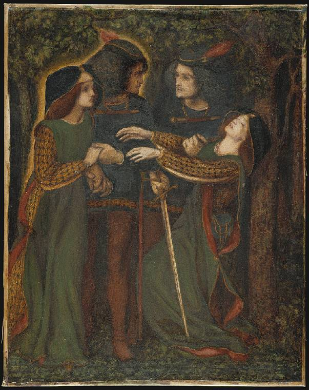 How They Met Themselves, by Dante Gabriel Rossetti