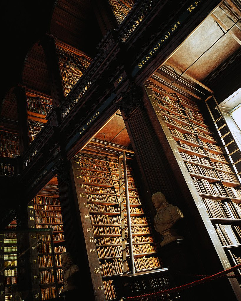 The Long Room in Trinity College Library ca. 2001 Dublin, Ireland