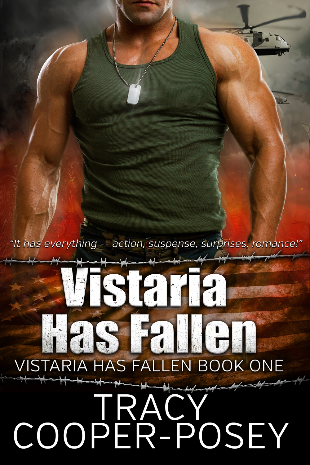 Vistaria Has Fallen-Book 1 Romantic Suspense, now free everywhere, always.
